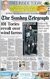 The Daily Telegraph, front page, Feb 2012