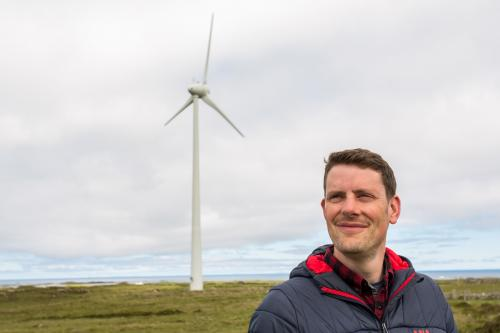 Andy Wright manages the Tiree Community Development Trust